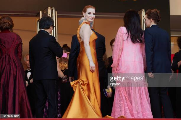 Jessica Chastain attends the 70th Anniversary screening during the 70th annual Cannes Film Festival at Palais des Festivals on May 23 2017 in Cannes...