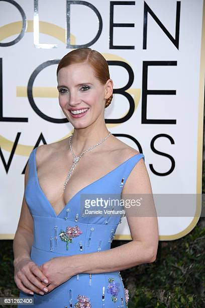 Jessica Chastain attends the 74th Annual Golden Globe Awards at The Beverly Hilton Hotel on January 8 2017 in Beverly Hills California