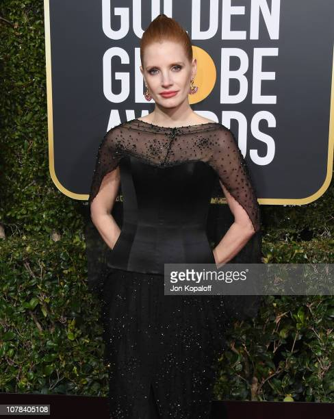 Jessica Chastain attends the 76th Annual Golden Globe Awards at The Beverly Hilton Hotel on January 6 2019 in Beverly Hills California