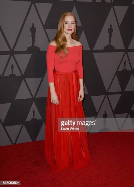 Jessica Chastain attends the Academy of Motion Picture Arts and Sciences' 9th Annual Governors Awards at The Ray Dolby Ballroom at Hollywood Highland...