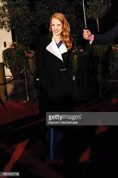 Jessica Chastain attends the after party for the EE British Academy Film Awards at Grosvenor House, on February 10, 2013 in London, England.