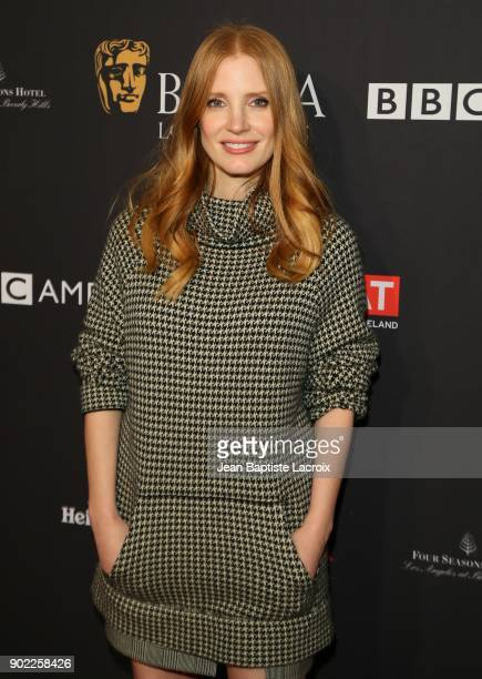 Jessica Chastain attends The BAFTA Los Angeles Tea Party at Four Seasons Hotel Los Angeles at Beverly Hills on January 6 2018 in Los Angeles...