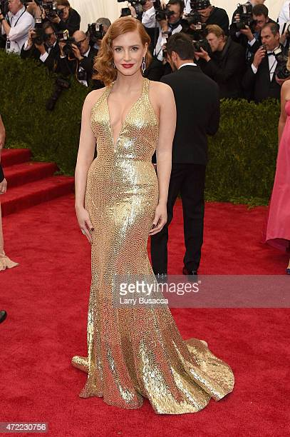 Jessica Chastain attends the China Through The Looking Glass Costume Institute Benefit Gala at the Metropolitan Museum of Art on May 4 2015 in New...