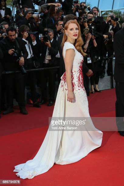 Jessica Chastain attends the Closing Ceremony during the 70th annual Cannes Film Festival at Palais des Festivals on May 28 2017 in Cannes France