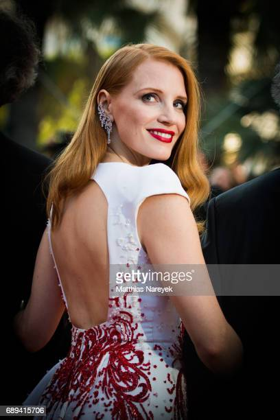 Jessica Chastain attends the Closing Ceremony of the 70th annual Cannes Film Festival at Palais des Festivals on May 28 2017 in Cannes France