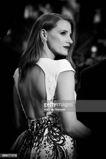 Jessica Chastain attends the Closing Cermony during the 70th annual Cannes Film Festival at Palais des Festivals on May 28 2017 in Cannes France