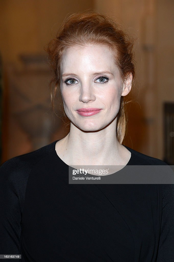 Jessica Chastain attends the 'CR Fashion Book Issue 2' - Carine Roitfeld Cocktail as part of Paris Fashion Week at Hotel Shangri-La on March 5, 2013 in Paris, France.