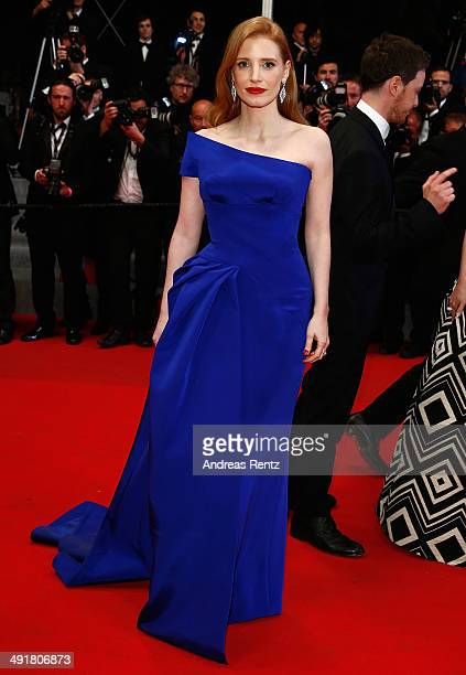 Jessica Chastain attends 'The Disappearance Of Eleanor Rigby' Premiere at the 67th Annual Cannes Film Festival on May 17 2014 in Cannes France