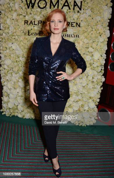 Jessica Chastain attends the European launch of WOMAN by Ralph Lauren hosted by Jessica Chastain at Isabel on September 14 2018 in London England