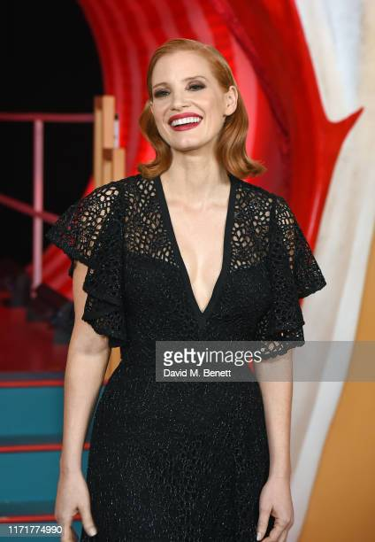 Jessica Chastain attends the European Premiere of IT Chapter Two at The Vaults Waterloo on September 02 2019 in London England