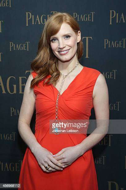Jessica Chastain attends the Extremely Piaget Launch Event on October 9 2014 in Beverly Hills California