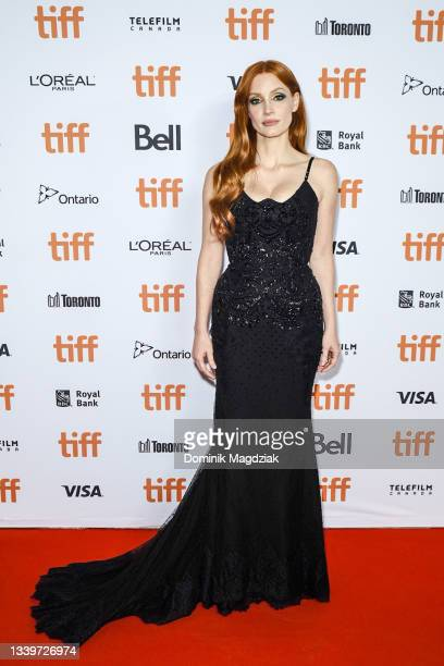 """Jessica Chastain attends """"The Forgiven"""" Premiere during the 2021 Toronto International Film Festival at Roy Thomson Hall on September 11, 2021 in..."""