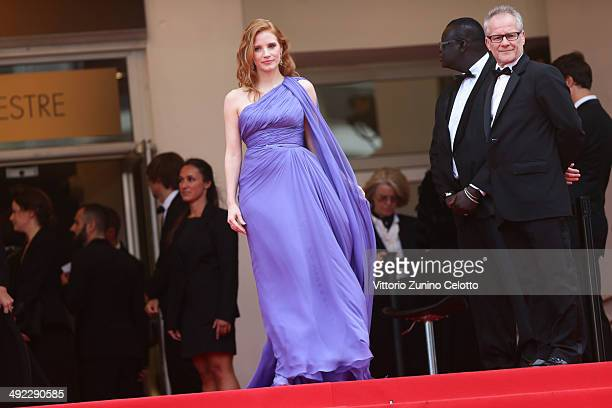 Jessica Chastain attends the 'Foxcatcher' premiere during the 67th Annual Cannes Film Festival on May 19 2014 in Cannes France