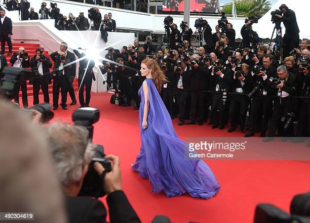 """Jessica Chastain attends the """"Foxcatcher"""" premiere during the 67th Annual Cannes Film Festival on May 19, 2014 in Cannes, France."""