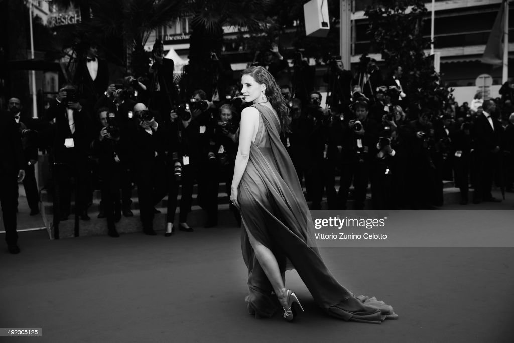 Jessica Chastain attends the 'Foxcatcher' premiere during the 67th Annual Cannes Film Festival on May 19, 2014 in Cannes, France.