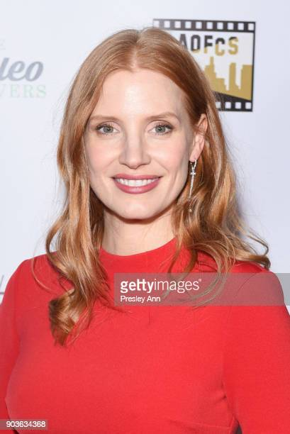 Jessica Chastain attends The Inaugural Los Angeles Online Film Critics Society Award Ceremony at Taglyan Complex on January 10 2018 in Los Angeles...
