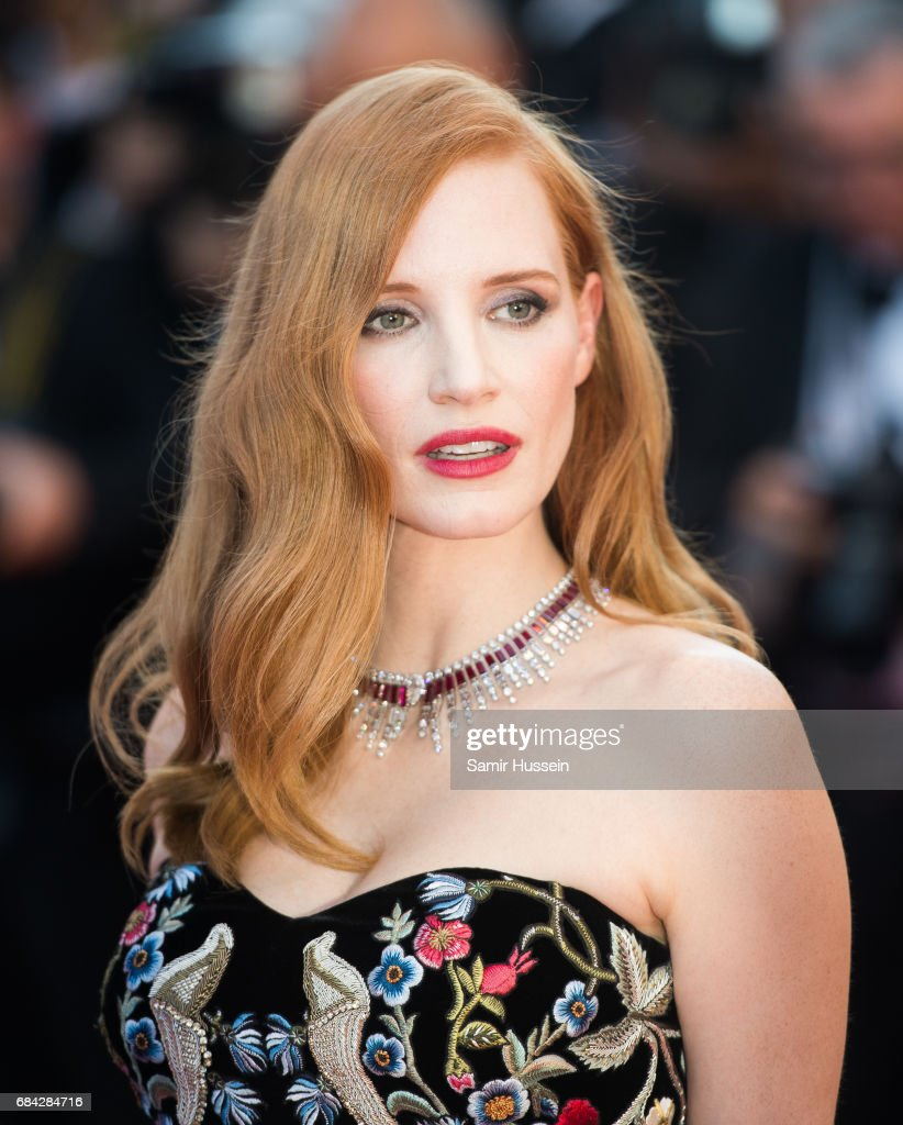 Jessica Chastain attends the 'Ismael's Ghosts (Les Fantomes d'Ismael)' screening and Opening Gala during the 70th annual Cannes Film Festival at Palais des Festivals on May 17, 2017 in Cannes, France.