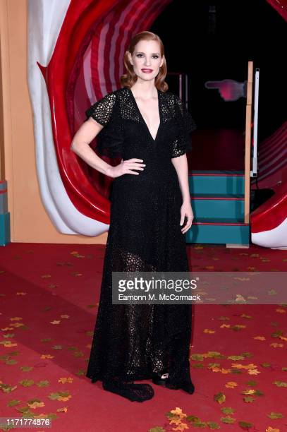 """Jessica Chastain attends the """"IT Chapter Two"""" European Premiere at The Vaults on September 02, 2019 in London, England."""
