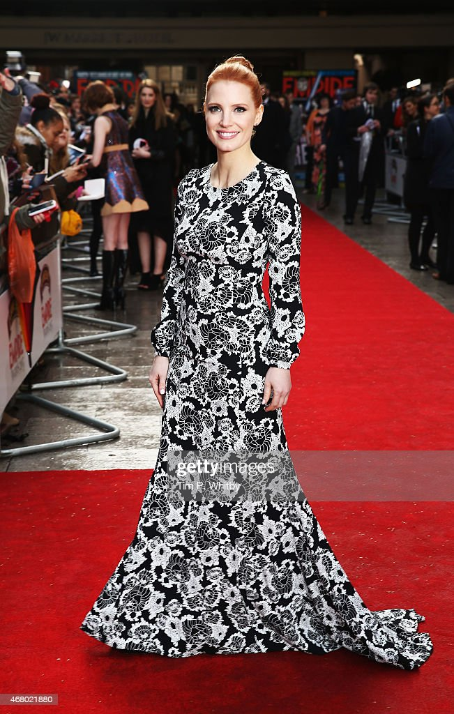 Jessica Chastain attends the Jameson Empire Awards 2015 at Grosvenor House Hotel on March 29, 2015 in London, England.