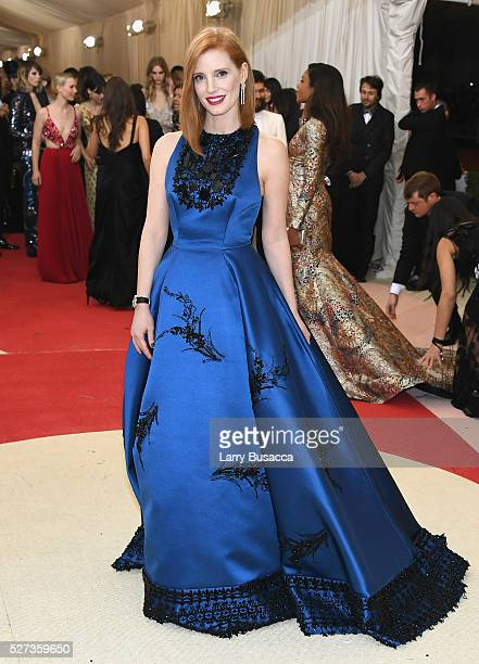 Jessica Chastain attends the Manus x Machina Fashion In An Age Of Technology Costume Institute Gala at Metropolitan Museum of Art on May 2 2016 in...