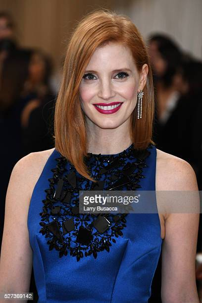 Jessica Chastain attends the 'Manus x Machina Fashion In An Age Of Technology' Costume Institute Gala at Metropolitan Museum of Art on May 2 2016 in...