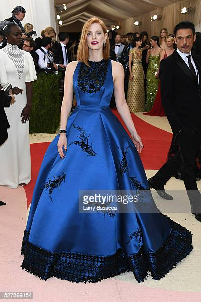 """Jessica Chastain attends the """"Manus x Machina: Fashion In An Age Of Technology"""" Costume Institute Gala at Metropolitan Museum of Art on May 2, 2016..."""