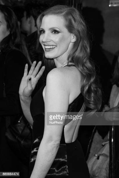 Jessica Chastain attends the 'Molly's Game' movie premiere at 'Capitol Cinema' in Madrid on Dec 4 2017