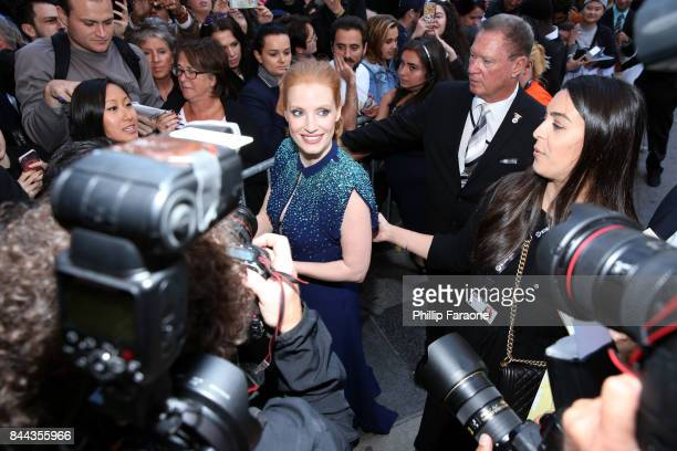 Jessica Chastain attends the Molly's Game premiere during the 2017 Toronto International Film Festival at The Elgin on September 8 2017 in Toronto...
