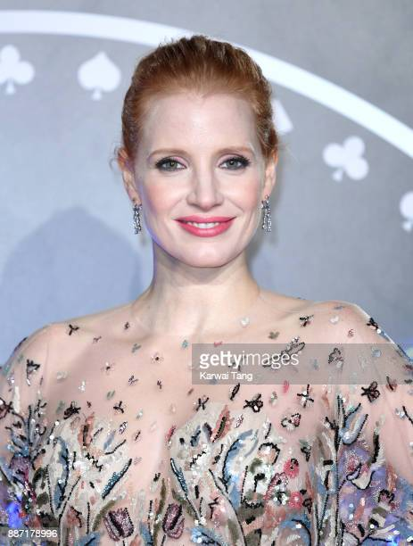Jessica Chastain attends the 'Molly's Game' UK premiere at Vue West End on December 6 2017 in London England