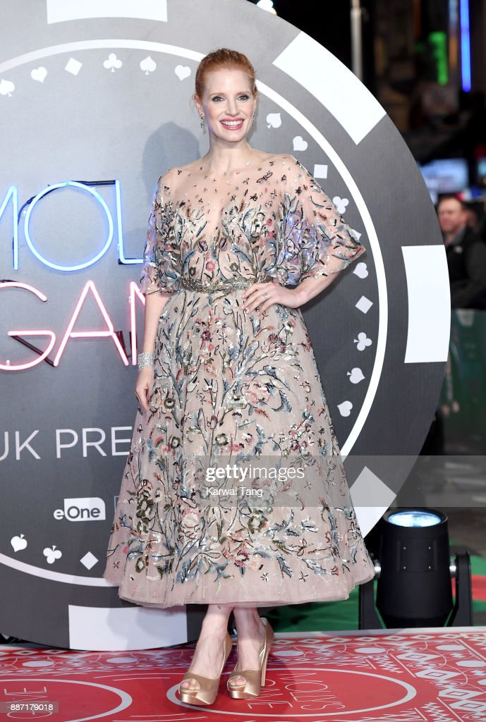Jessica Chastain attends the 'Molly's Game' UK premiere at Vue West End on December 6, 2017 in London, England.