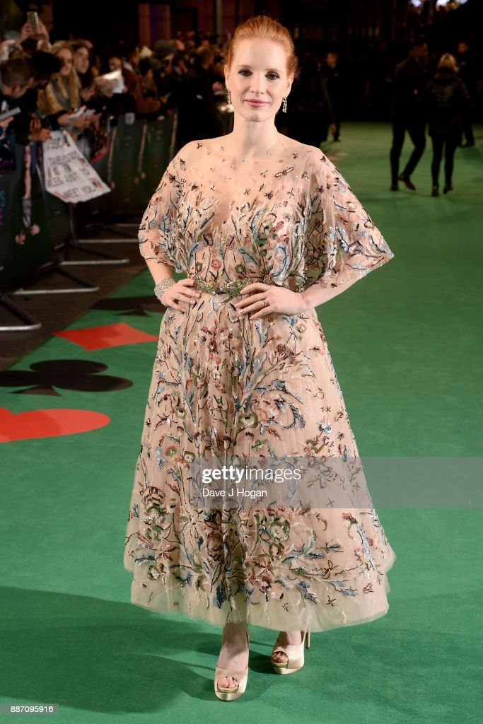 Jessica Chastain attends the 'Molly's Game' UK premiere held at Vue West End on December 6, 2017 in London, England.