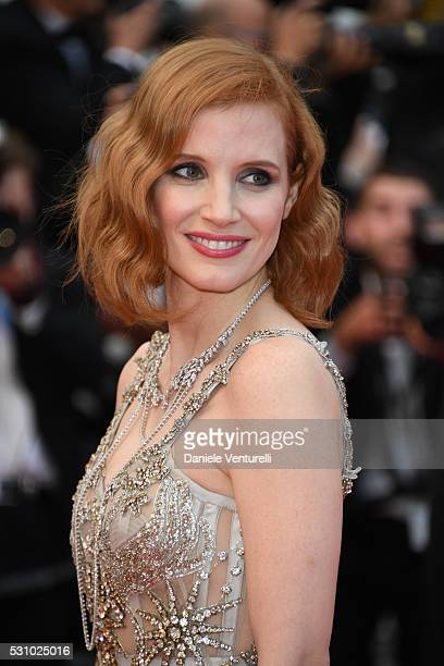 Jessica Chastain attends the 'Money Monster' premiere during the 69th annual Cannes Film Festival at the Palais des Festivals on May 12 2016 in Cannes
