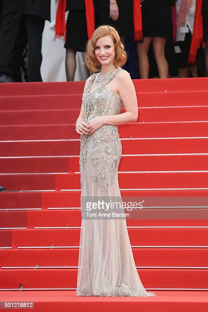 Jessica Chastain attends the 'Money Monster' Premiere during the 69th annual Cannes Film Festival on May 12 2016 in Cannes France