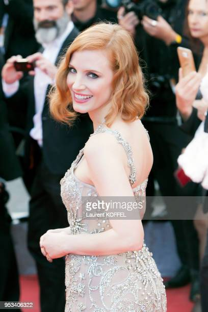 Jessica Chastain attends the 'Money Monster' premiere during the 69th annual Cannes Film Festival at the Palais des Festivals on May 12, 2016 in...