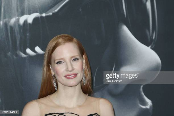 Jessica Chastain attends the New York premiere of 'Molly's Game' at AMC Loews Lincoln Square on December 13 2017 in New York City
