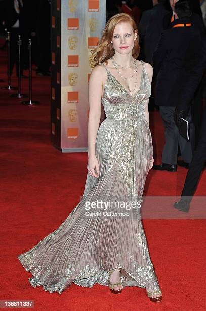 Jessica Chastain attends the Orange British Academy Film Awards 2012 at the Royal Opera House on February 12 2012 in London England