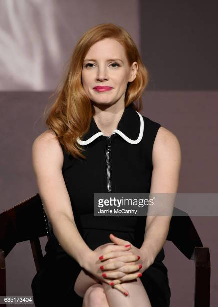 Jessica Chastain attends The Pirelli Calendar Presents Peter Lindbergh On Beauty panel at Cipriani Wall Street on February 13 2017 in New York City