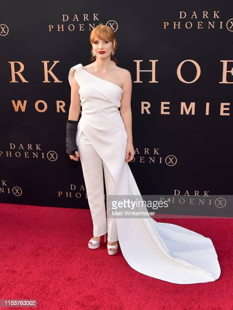 """Jessica Chastain attends the premiere of 20th Century Fox's """"Dark Phoenix"""" at TCL Chinese Theatre on June 04, 2019 in Hollywood, California."""