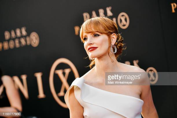 Jessica Chastain attends the premiere of 20th Century Fox's Dark Phoenix at TCL Chinese Theatre on June 04 2019 in Hollywood California