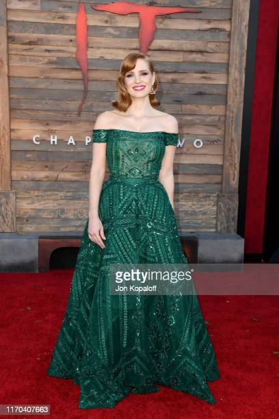 """Jessica Chastain attends the Premiere of Warner Bros. Pictures' """"It Chapter Two"""" at Regency Village Theatre on August 26, 2019 in Westwood,..."""