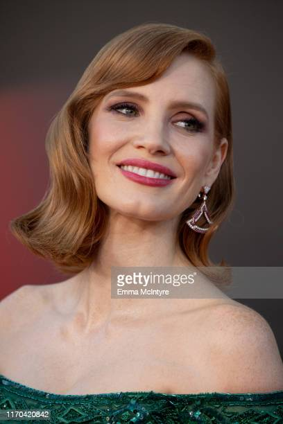 """Jessica Chastain attends the premiere of Warner Bros. Pictures """"It Chapter Two"""" at Regency Village Theatre on August 26, 2019 in Westwood, California."""