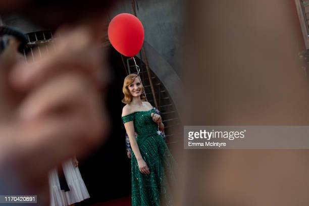 "Jessica Chastain attends the premiere of Warner Bros. Pictures ""It Chapter Two"" at Regency Village Theatre on August 26, 2019 in Westwood, California."