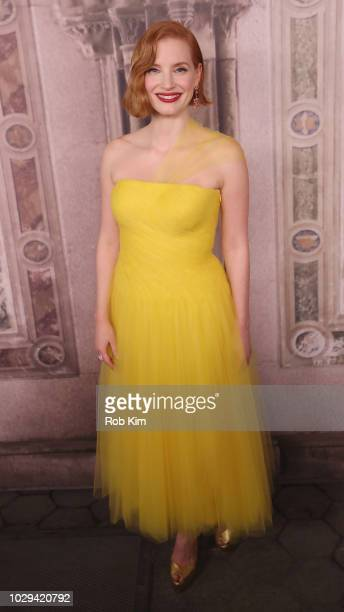 Jessica Chastain attends the Ralph Lauren fashion show during New York Fashion Week at Bethesda Terrace on September 7 2018 in New York City