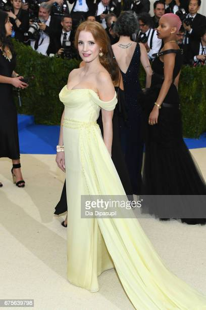 Jessica Chastain attends the 'Rei Kawakubo/Comme des Garcons Art Of The InBetween' Costume Institute Gala at Metropolitan Museum of Art on May 1 2017...