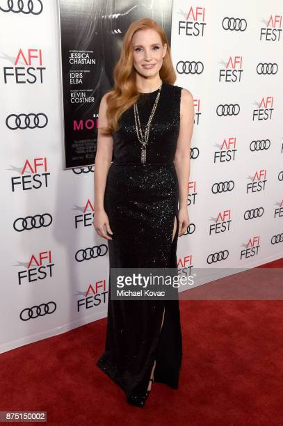 Jessica Chastain attends the screening of 'Molly's Game' at the Closing Night Gala at AFI FEST 2017 Presented By Audi at TCL Chinese Theatre on...
