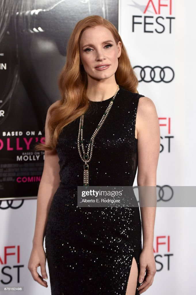 Jessica Chastain attends the screening of 'Molly's Game' at the Closing Night Gala at AFI FEST 2017 Presented By Audi at TCL Chinese Theatre on November 16, 2017 in Hollywood, California.