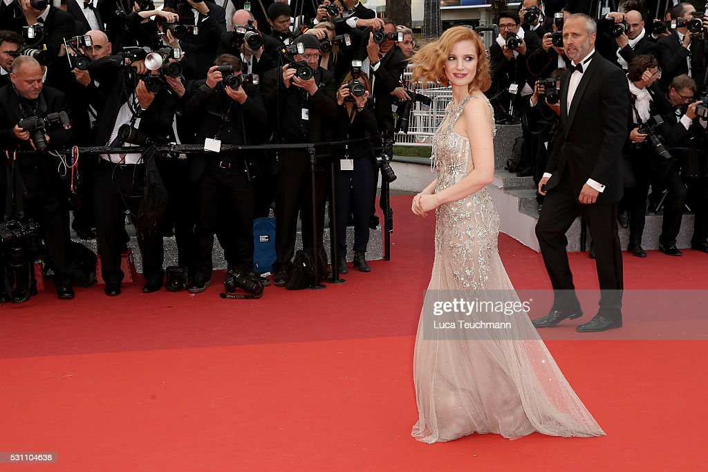 Jessica Chastain attends the screening of 'Money Monster' at the annual 69th Cannes Film Festival at Palais des Festivals on May 12, 2016 in Cannes, France.