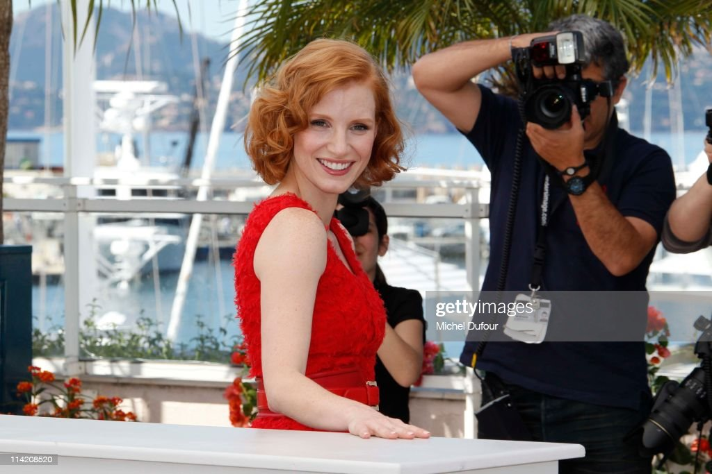 Jessica Chastain attends 'The Tree Of Life' photocall during the 64th Annual Cannes Film Festival at Palais des Festivals on May 16, 2011 in Cannes, France.