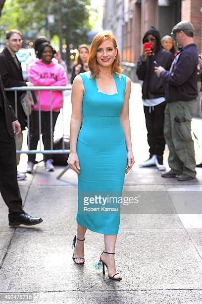 Jessica Chastain attends The View at ABC studio on October 13 2015 in New York City