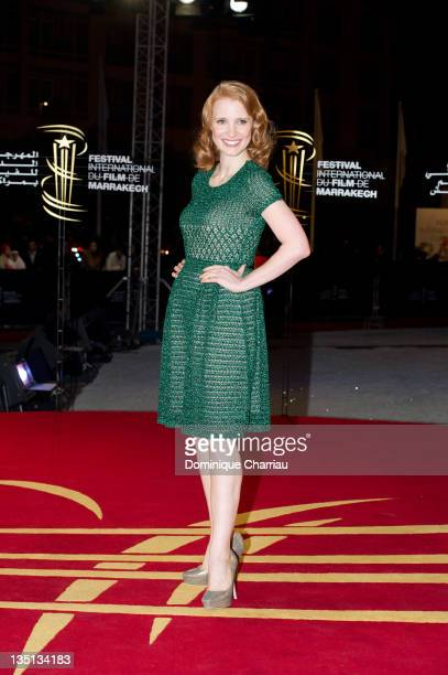 Jessica Chastain attends the 'When The Night' Red Carpet Premiere during Marrakech International Film Festival 2011 on December 6 2011 in Marrakech...